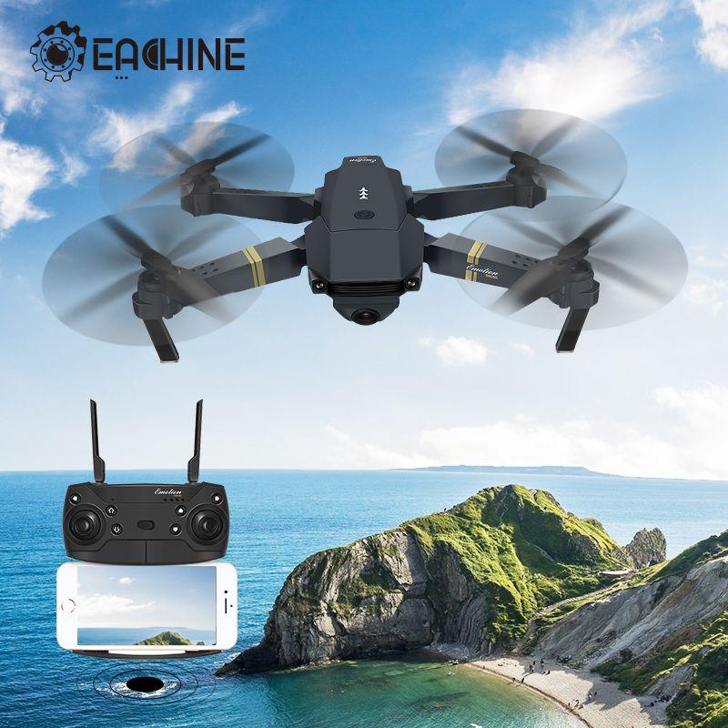 Eachine E58 WIFI FPV avec véritable caméra HD grand Angle 720 P/1080 P Mode de maintien élevé bras pliable Drone RC quadrirotor RTF VS S9HW M69