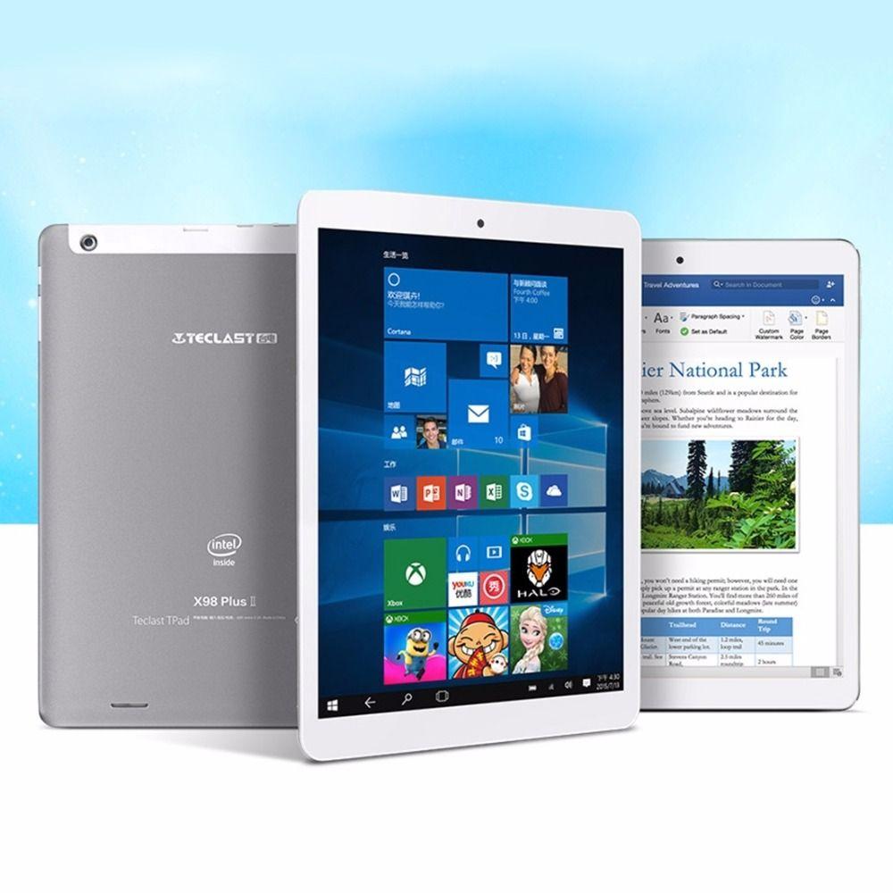 Original de 9.7 pulgadas Teclast X98 Plus II OS Dual Intel Trail Cereza X5 Tabletas Windows 10 Home + Android 5.1 4 GB 64 GB 2048x1536