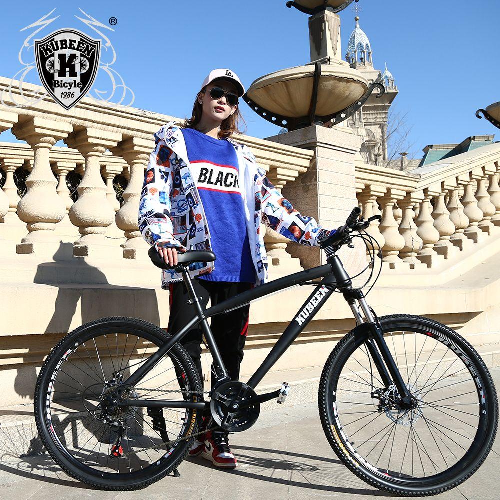 21 Speed Mountain Bike 26-Inch High-Carbon Steel Dual Disc Brakes One Wheel Speed Damping Men Women Student Bicycle