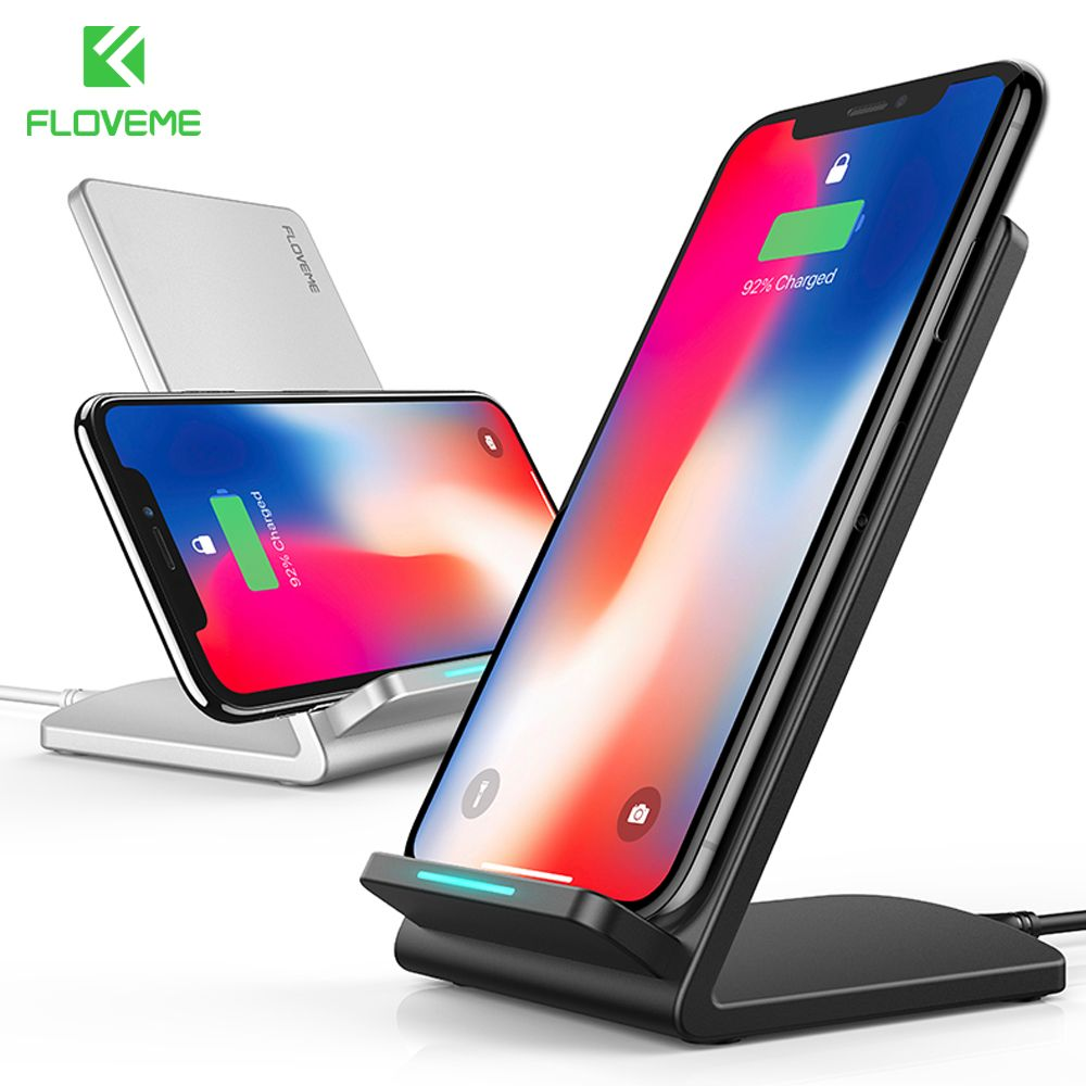 FLOVEME Qi Wireless Charger For Samsung Galaxy S9 S8 Plus S7 S6 <font><b>Edge</b></font> Fast Charging Charger For iPhone X iPhone 8 8 Plus Chargers