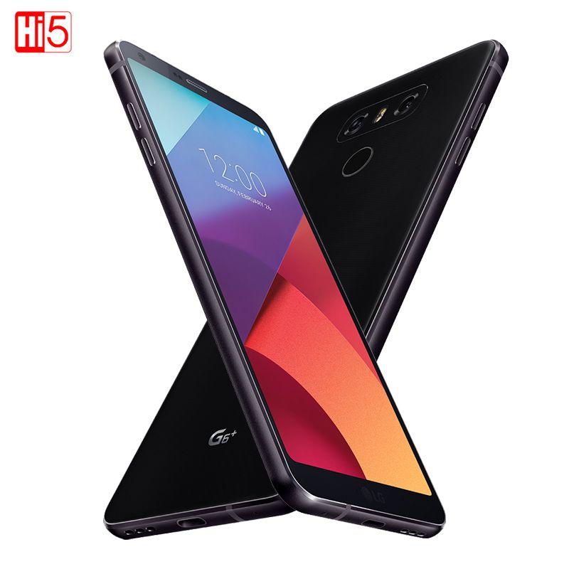 Unlocked LG G6 Plus Mobile Phone 4G RAM G6+ H870DSU 128G ROM Quad-core 4G LTE Dual SIM 5.7 inch display 3300mAh Cellphone 13MP