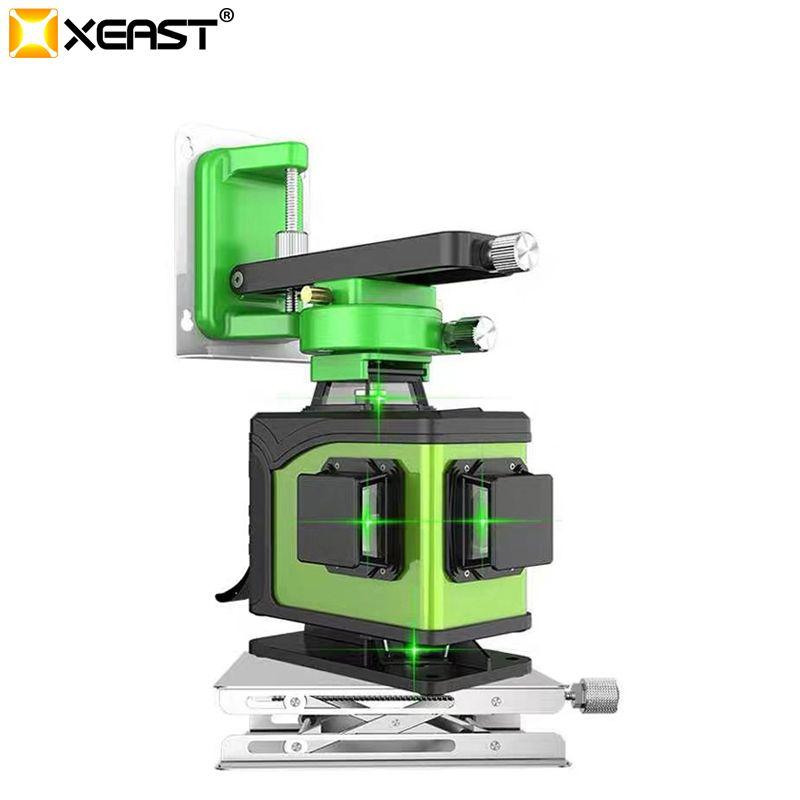 Professionelle 2019 neue XEAST grün licht 16 linie anbringung 4D ebene hohe präzision glare boden fliesen kehr instrument wand meter