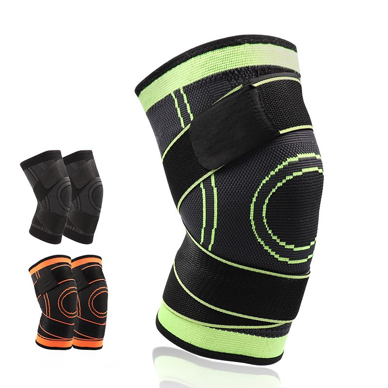 5XL basketball tennis hiking cycling knee brace support 3D weaving Pressurized Straps bandage Sports knee pads Patella Guard 1pc