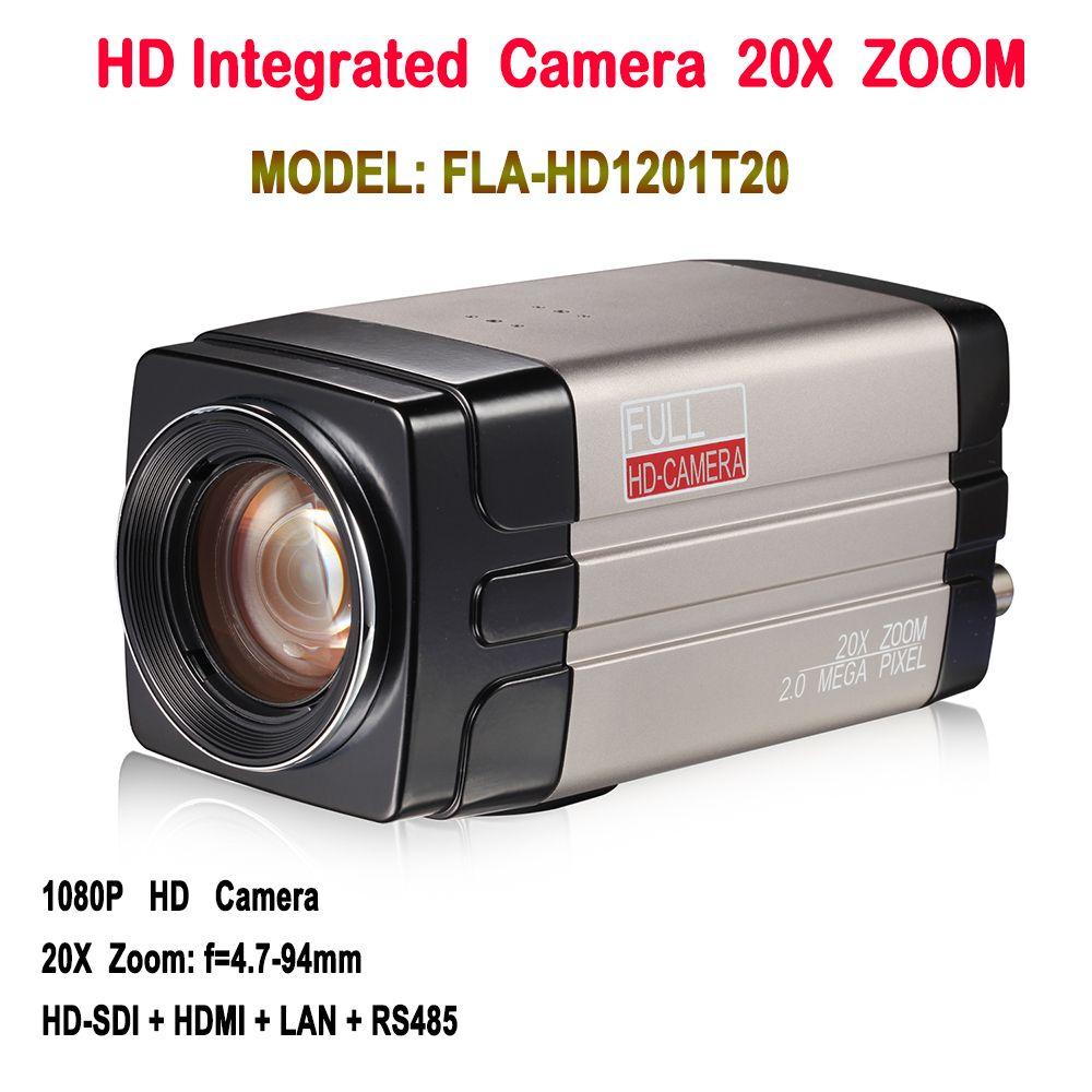 SDI IP Box Kamera 2,0 Megapixel 1080 p 60fps Onvif 20X Zoom Mit HDSDI LAN Hdmi-ausgang Für konferenzsystem/Media fernbedienung erziehungshalsband