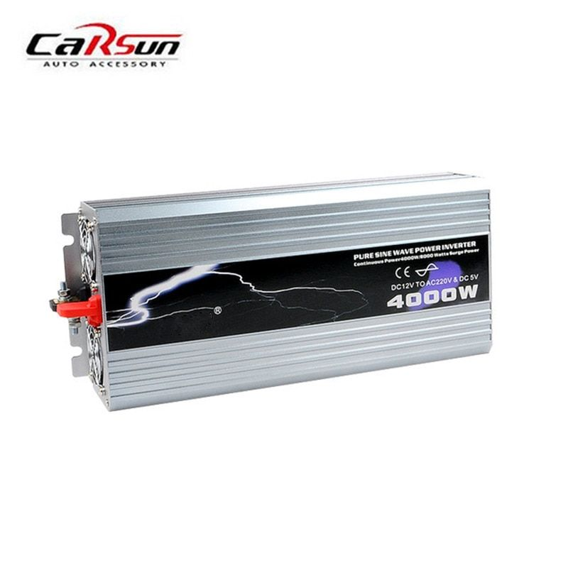 4000W Power Inverter Pure Sine Wave 12V/24V/48V DC to 110V/220V AC Car Converter inverters Adapter With Retail Package