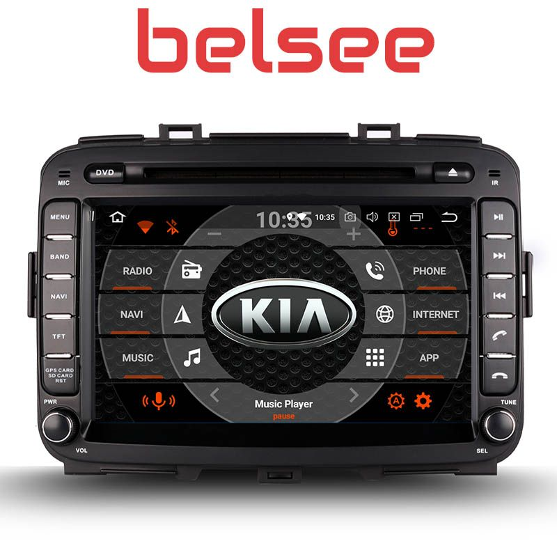 Belsee 8 inch Touch Screen Radio Android 8.0 Head Unit Octa Core PX5 GPS Car DVD Player Navi Kia Carens 2013 2014 2015 2016 2017