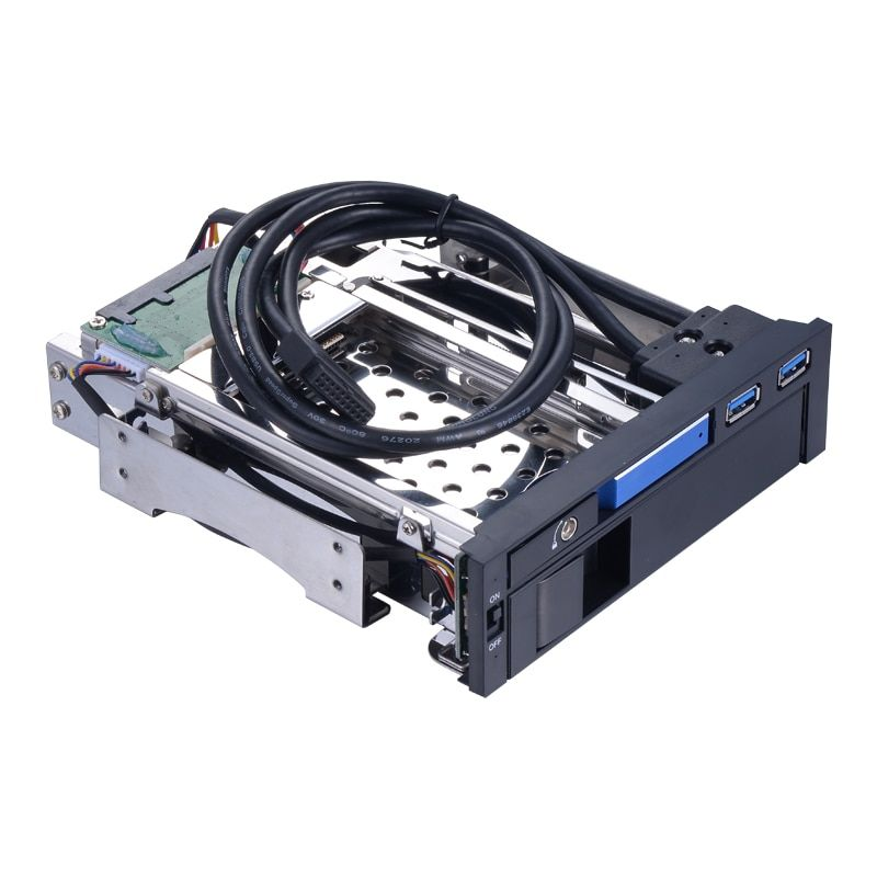 Uneatop 2.5in sata aluminum enclosure case to 3.5 sata hard drive caddy tray backplane 5.25in hdd docking PC bay hdd enclosure