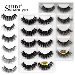 5 pairs false eyelashes 3D mink lashes natural makeup eyelash extension long cross volume soft fake eye lashes winged faux cils