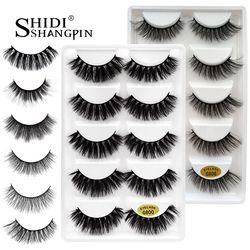 5 pairs false eyelashes natural 3D mink lashes makeup eyelash extension long mink eyelashes volume fake eye lashes cilio russian