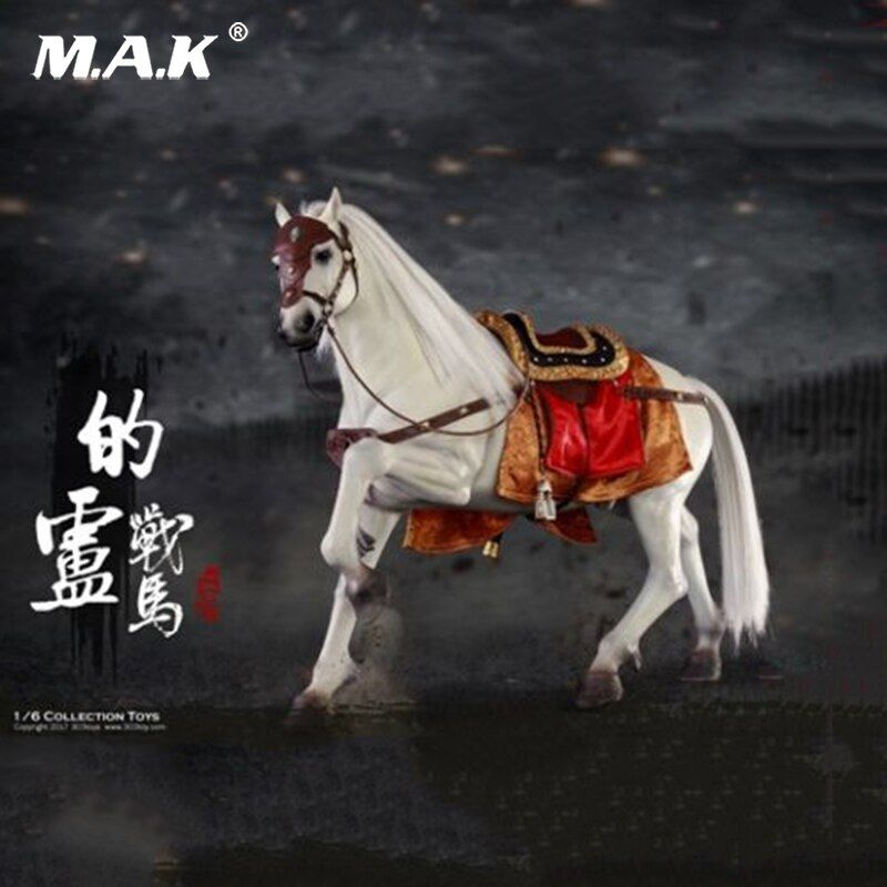 For Collection 1/6 Three Kingdoms Liu Bei War Horse Ancient Horses Figure Horse Figure model for 12