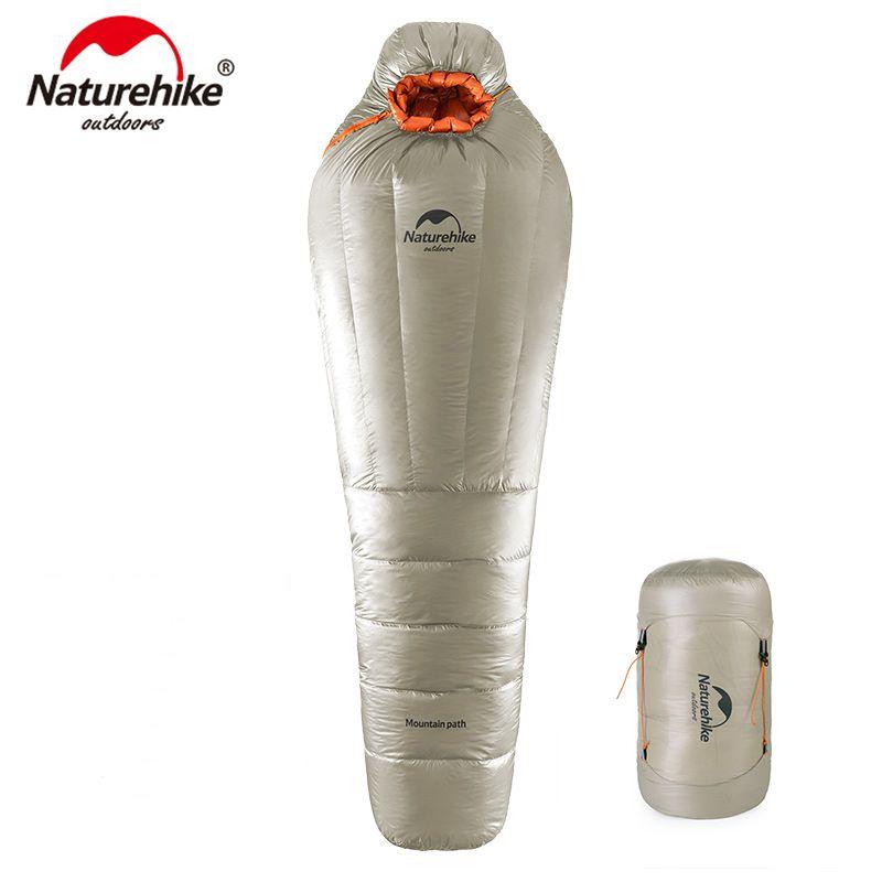 Naturehike Mummy Schlafsack Ultraleicht Camping Erwachsene Warme Winter-20 ~-10 Grad NH17U800-L