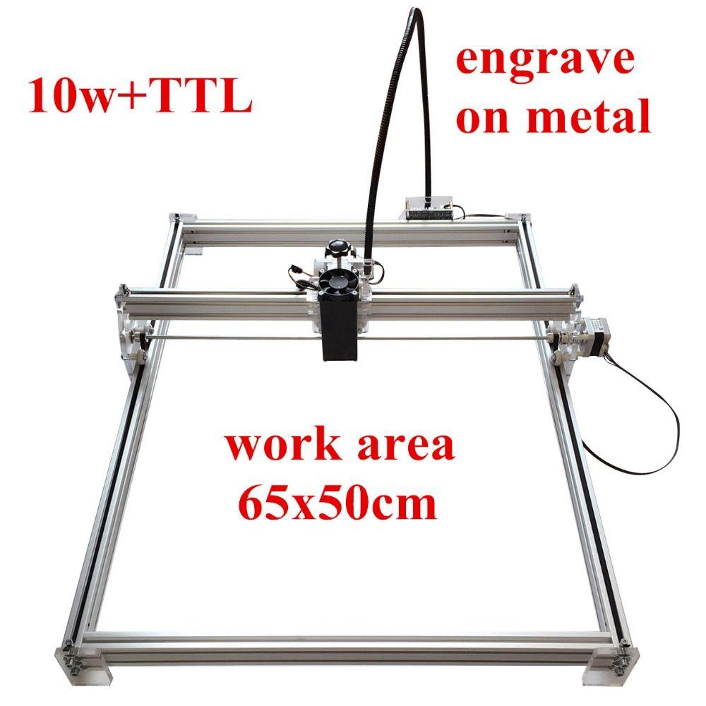 65*50 10 Вт Мини рабочего DIY лазерной гравировки гравер для резки лазерный гравер ЧПУ печати изображения марки на из металла большая рабочая