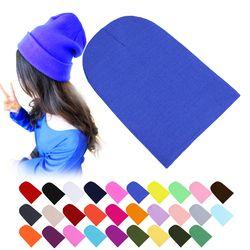 Зимние теплые Шапки унисекс Вязание Для женщин Для мужчин Шерсть флуоресценции Цвет табби Твердые упругие шапочка хеджирования шляпа