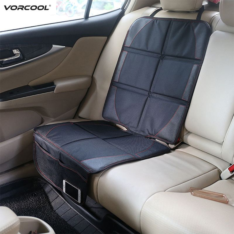 123*48cm Car <font><b>Seat</b></font> Protector Oxford Cotton Leather Child Baby Auto <font><b>Seat</b></font> Cover With Pocket Mat Improved Protection For Car <font><b>Seat</b></font>