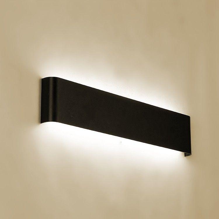 Moderne minimaliste led lampe en aluminium lampe de chevet lampe murale chambre miroir pour salle de bain lumière directe créative allée