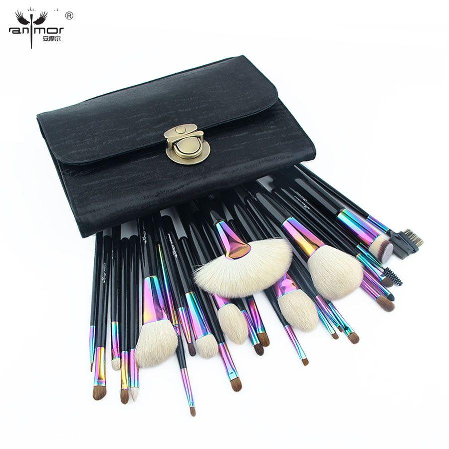 Anmor Große Make-Up Pinsel Set Wunderschöne Natürliche Haar Bilden Werkzeuge mit Schwarze Tasche CFCB-YF26