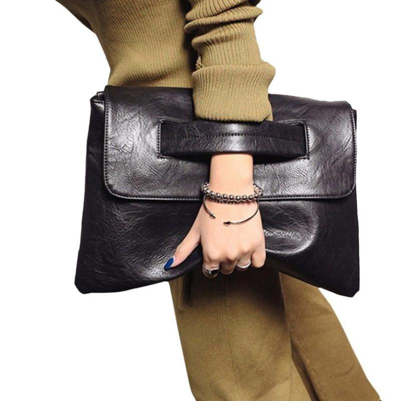 Новые модные женские туфли конверт клатч кожаный Для женщин Сумки через плечо Для женщин тенденция сумочку сумка женская Клатчи