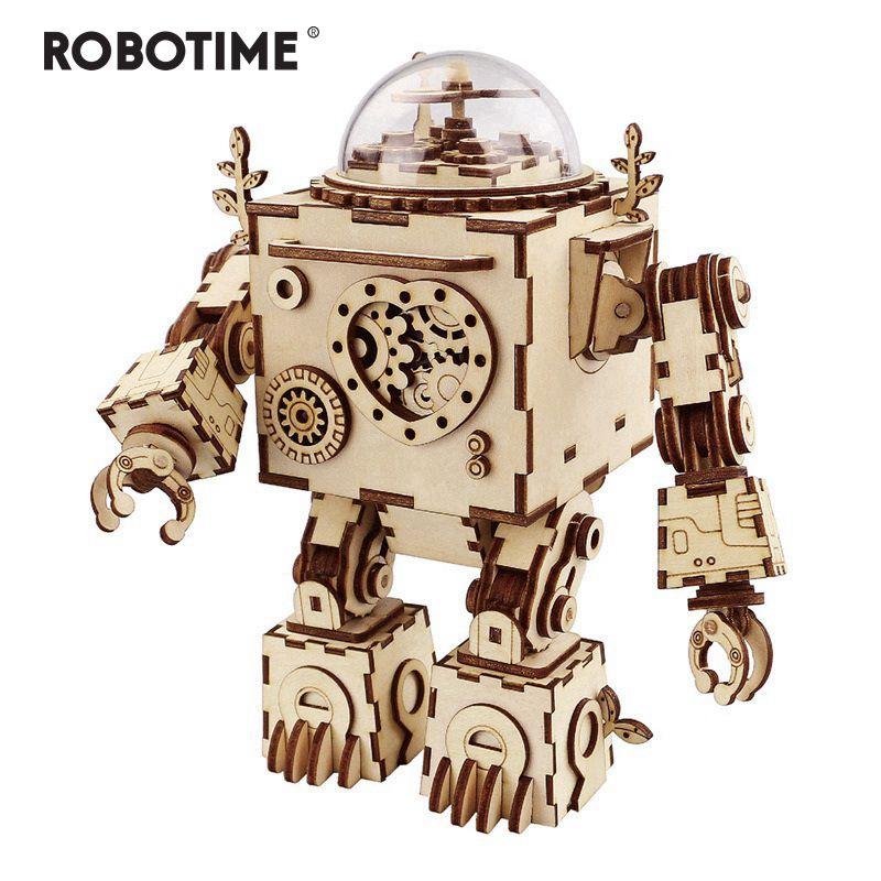Robotime 5 sortes ventilateur rotatif en bois bricolage Steampunk modèle Kits de construction assemblage jouet cadeau pour enfants adulte AM601