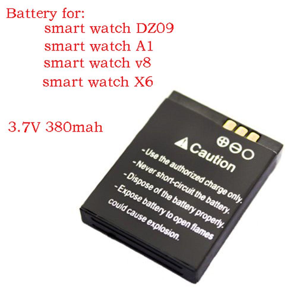2017 new original authentic DZ09 smart watch mobile phone battery 380 MAH battery watch battery free shipping