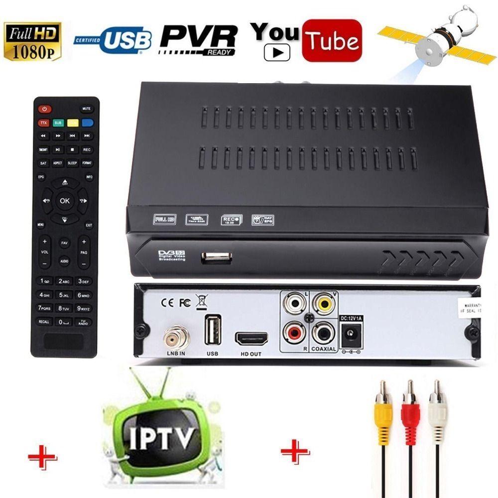 Free To Air DVB-S2 HD Digital Satellite Receiver IPTV Combo Support HD AC3 USB Wifi Antenna Youtube IKS Cccam Newcam vu Biss Key