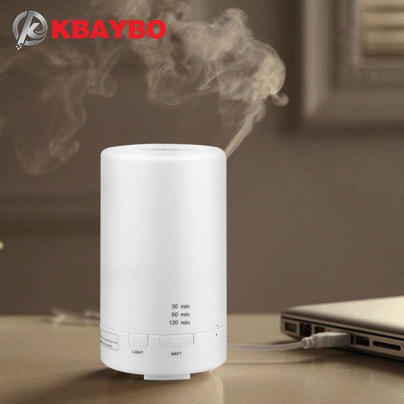 KBAYBO Diffuser USB air aroma Humidifier Essential Oil diffuser Aromatherapy Car fragrance Ultrasonic Humidifier LED Night <font><b>Light</b></font>