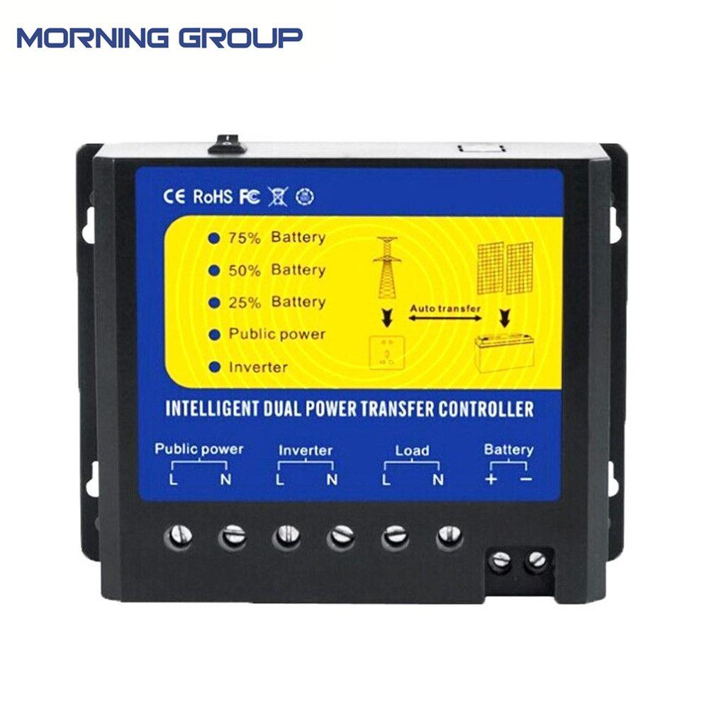 Q4500 Solar Charge Controller Power Switch Regulator DC 12V 24V 48V AC 110V 220V Automatic Dual Transfer Solar wind System