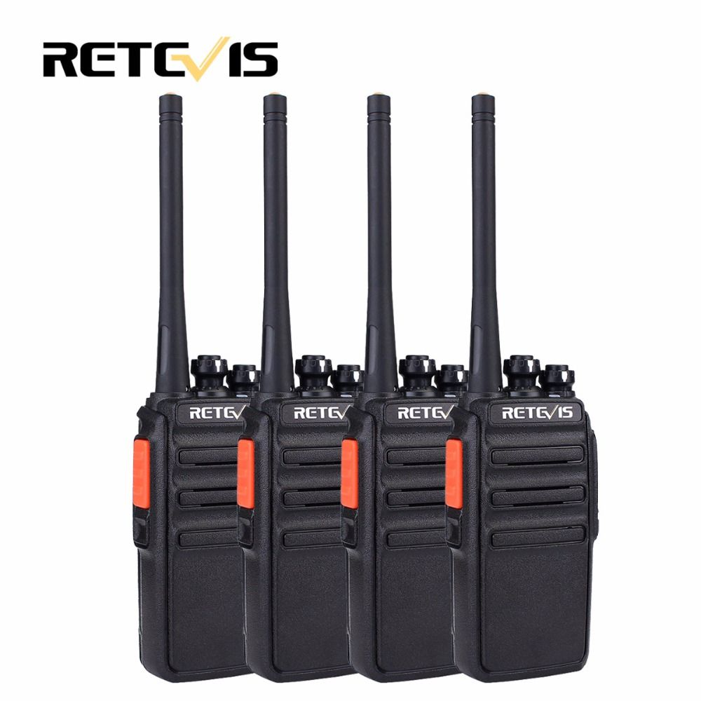 4pcs PMR446 Radio Retevis RT24 Walkie Talkie PMR Radio 0.5W UHF 446 Scrambler VOX Handy Two Way Radio Station Hotel Restaurant
