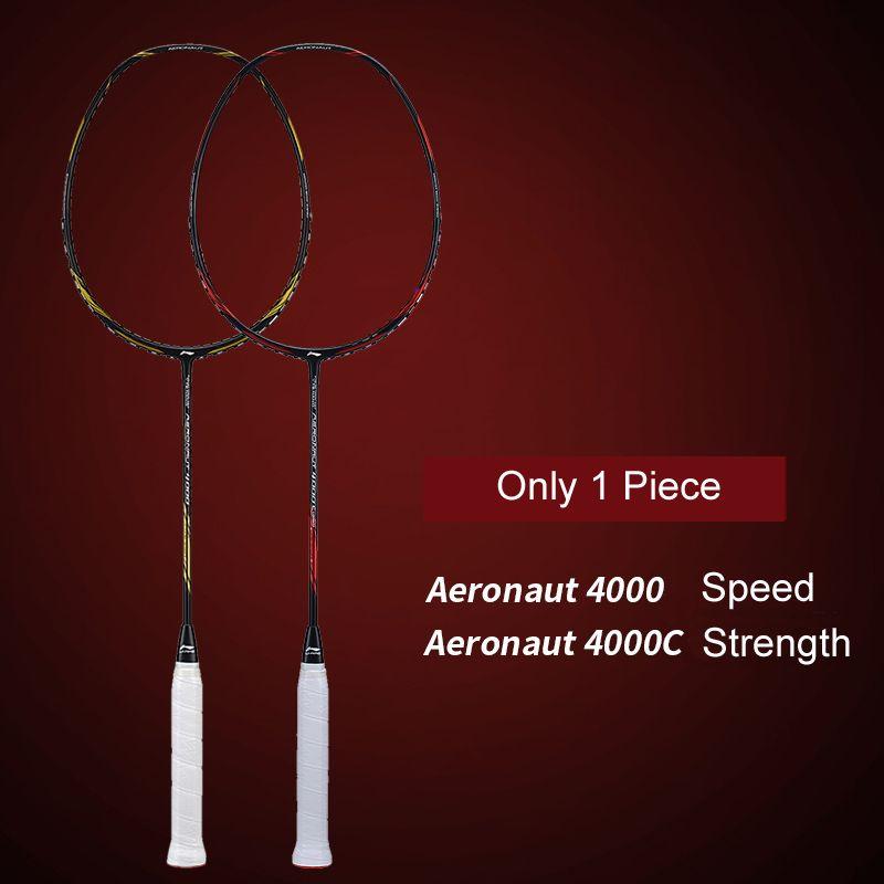 Li-Ning AERONAUT 4000/4000C Badminton Schläger Futter Einzelnen Schläger Keine String AYPM448/AYPM444 ZYF313