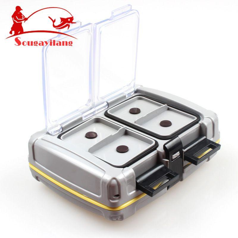 Sougayilang Bilateral Fishing Box 139g ABS Plastic Fishing Tackle Box 10*8.5*3.5cm Lure Box for Carp Fishing Accessories Tools