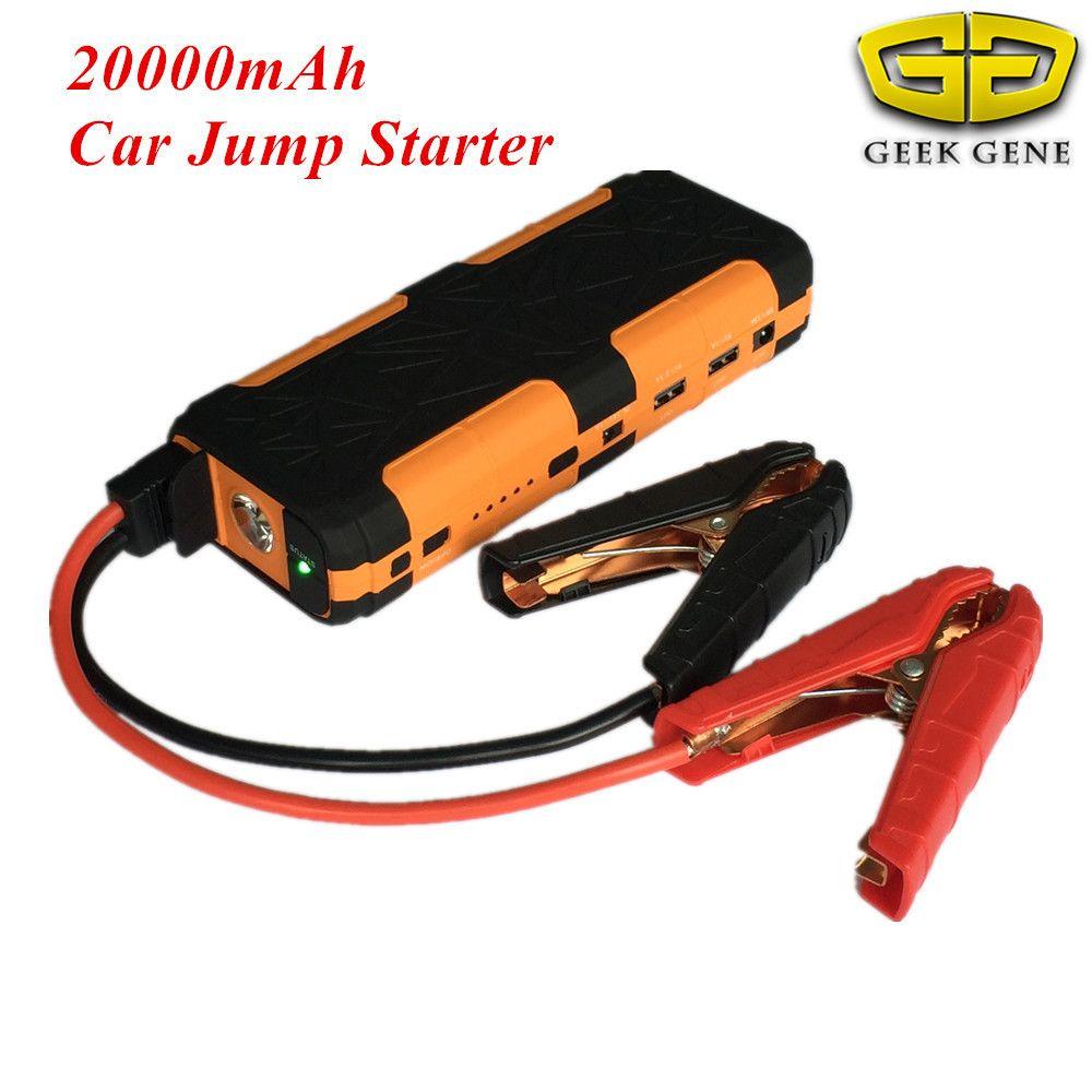 New Capacity 20000mAh 12V Petrol Diesel Car Jump Starter 800A Starting Device Lighter Power Bank Car Charger For Car Battery LED