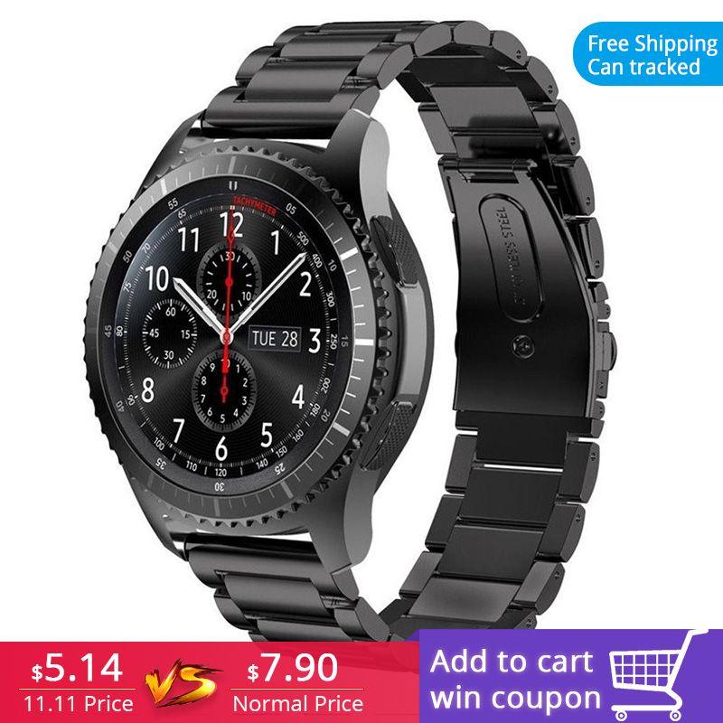 FOHUAS Bracelet de montre en acier inoxydable pour Samsung gear s3 poignet Bracelet de montre intelligent lien Bracelet Bracelet liens Bracelet de montre pour iWatch