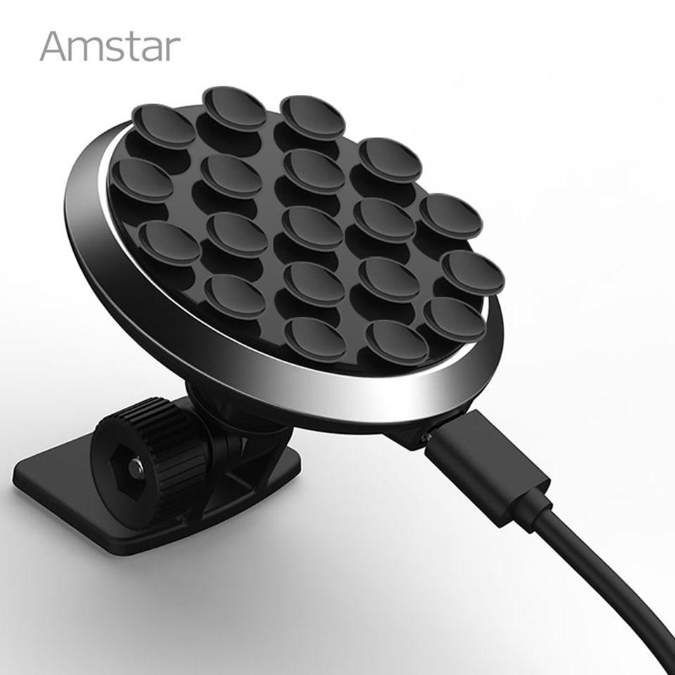 Amstar ventouse voiture chargeur sans fil pour iPhone XS Max XR X 8 Plus 10W rapide Qi chargeur de voiture sans fil pour Samsung S9 S8 Note 9