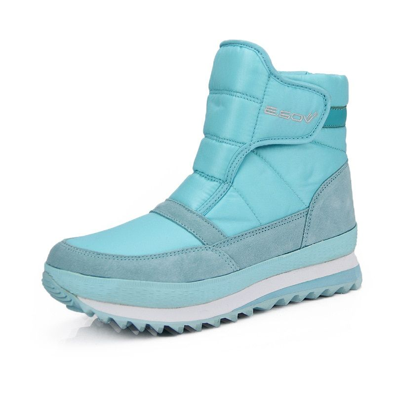 New Women's Shoes Winter Motorcycle Snow Boots Unisex Flats Platform Casual Ankle Oxford Cloth Cotton Boots Fashion Sweet Style