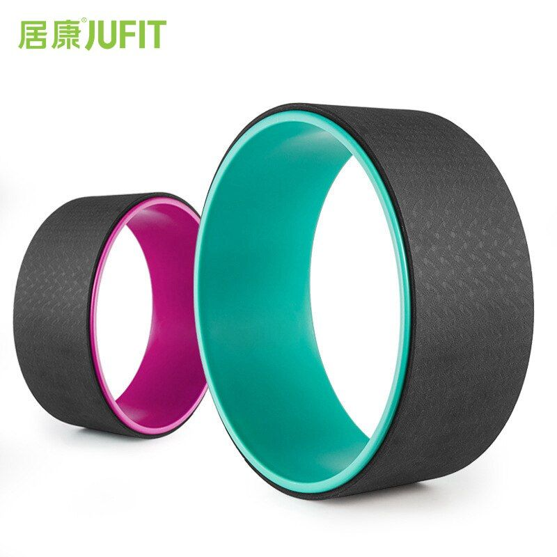 JUFIT Yoga Circles Pilates Professional Waist Shape Bodybuilding ABS Gym Workout Yoga Wheel Back Training Tool For Fitness