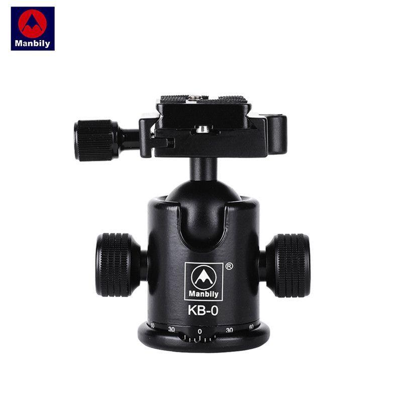 manbily Kb-0 Aluminum Alloy Mount Screw Mini Tripod Monopod Ball Head With 2 Built-in Spirit Level Load 15kg For DSLR Camera
