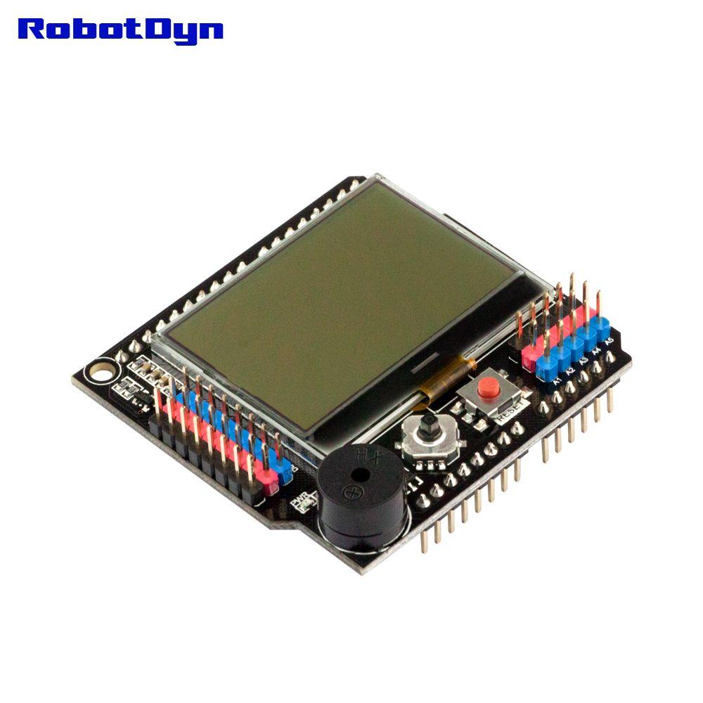 Graphic LCD 128x64 + Buzzer Shield compatible for Arduino Uno, Mega 2560, Leonardo