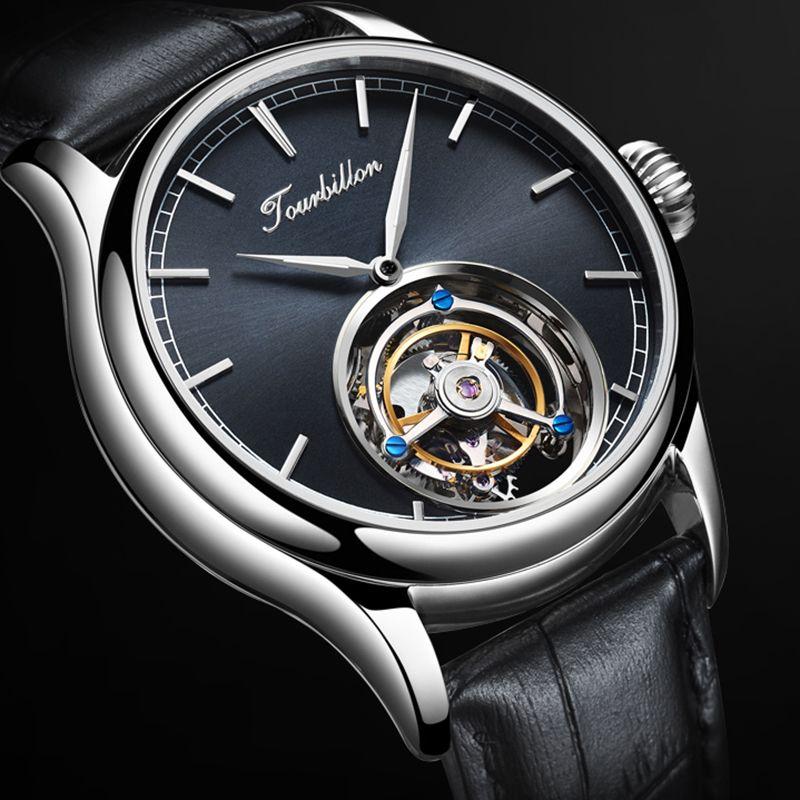 Tourbillon Uhr GUANQIN Original uhr Skeleton mechanische Saphir Herren Uhren Top Marke Luxus uhr männer Relogio Masculino