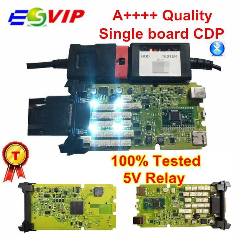 New arrival Single Board TCS CDP PRO PLUS NEW+Generic 3 in 1 New NEC Relays bluetooth 2015 r3 with keygen obd tool free shipping