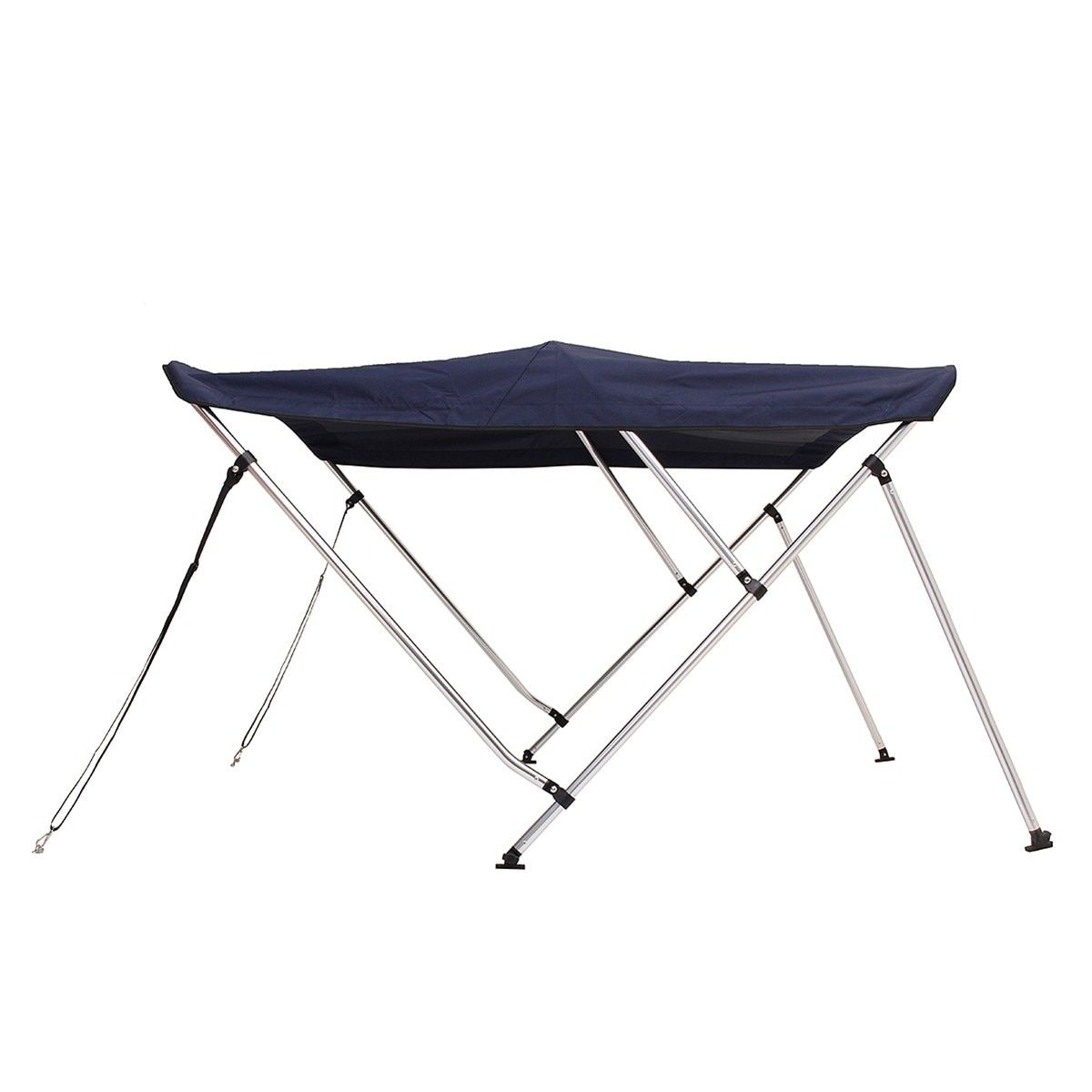 4 Bows 3 Bows Boat Aluminum Canopy Top Cover 8ft 6ft Long Width 600D Support Poles 85