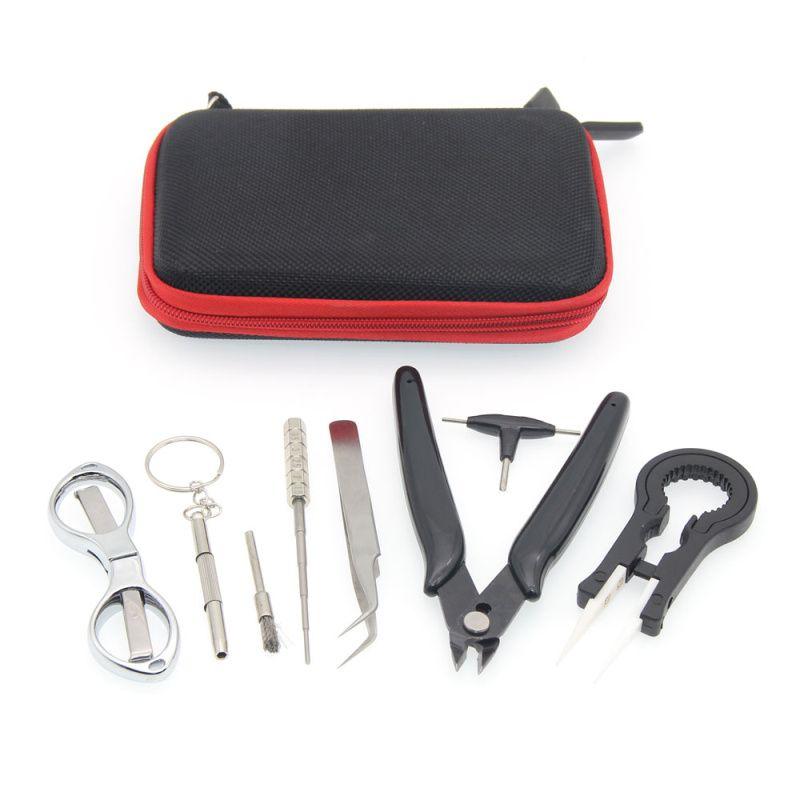 E-XY Electronic Cigarette DIY Tool Kit Coil jig Tweezers Pliers for RDA RDTA RTA E Cig Accessories Vape Bag Coiling Kit