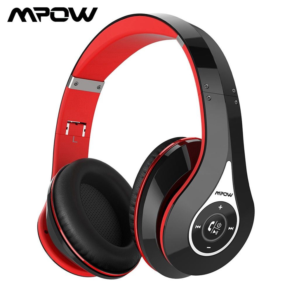 Mpow 059 On-Ear Bluetooth Headphone Noise Cancelling Stereo Sound Foldable Headband With Carry Bag Soft Earmuffs For Handsfree