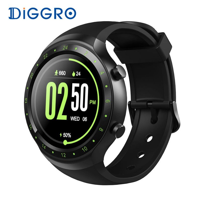 Diggro DI07 Android 5.1 Smart Watch MTK6580 BT4.0 512MB 8GB 3G Built-in GPS Nano WIFI Heart Rate Smartwatch For IOS and Android