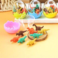 8 unids/lote Mini lindo Kawaii TPR borrador dinosaurio para los niños regalo Corea papelería estudiante 874
