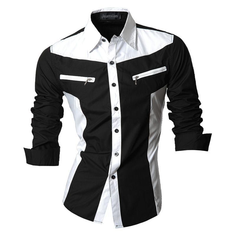 2018 Spring Autumn <font><b>Features</b></font> Shirts Men Casual Jeans Shirt New Arrival Long Sleeve Casual Slim Fit Male Shirts Z018