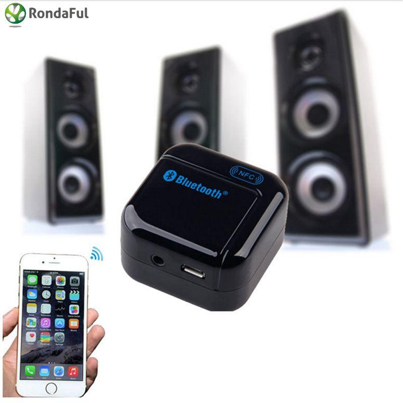 Bluetooth V2.1 Sans Fil Transmetteur Audio Récepteur 5 V DC 3.5mm USB NFC Stéréo Audio Music Receiver Adaptateur Blanc couleur