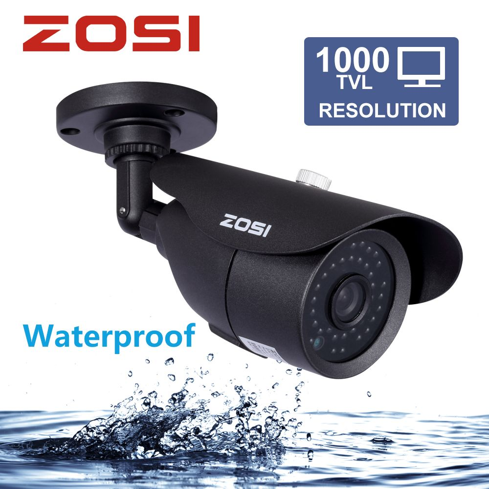 ZOSI HD 960H 1000TVL CMOS 42pcs IR Leds High Resolution Day/night Waterproof <font><b>Indoor</b></font> / Outdoor CCTV Camera with Bracket
