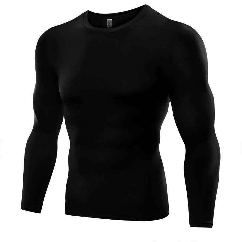Plus größe männer compression base layer enge top hemd unter skin langarm t-shirt tops tees 6 farben # ap