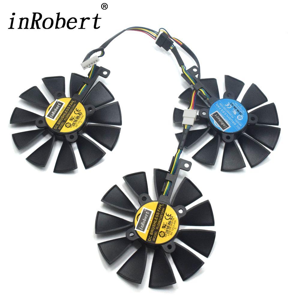 87MM PLD09210S12M PLD09210S12HH Cooler Fan For ASUS Strix GTX 980Ti GTX 1060 1080 1070 RX 480 580 VEGA64 VEGA56 Graphics Card