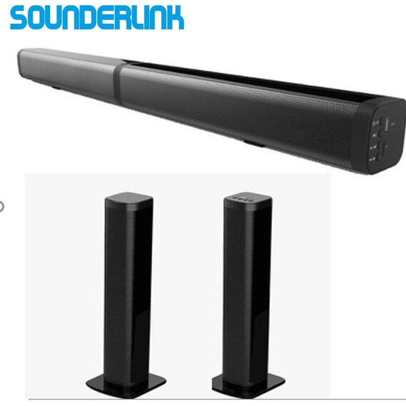 Sounderlink Bluetooth Soundbar wireles speaker HiFi 2.0 channel tower Audio home theater Sound bar optical for LED TV
