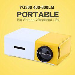 Dropshipping YG300 LED Portable Projecteur 400-600LM Audio 320x240 Pixels YG-300 HDMI USB Mini Projecteur Home Media Player
